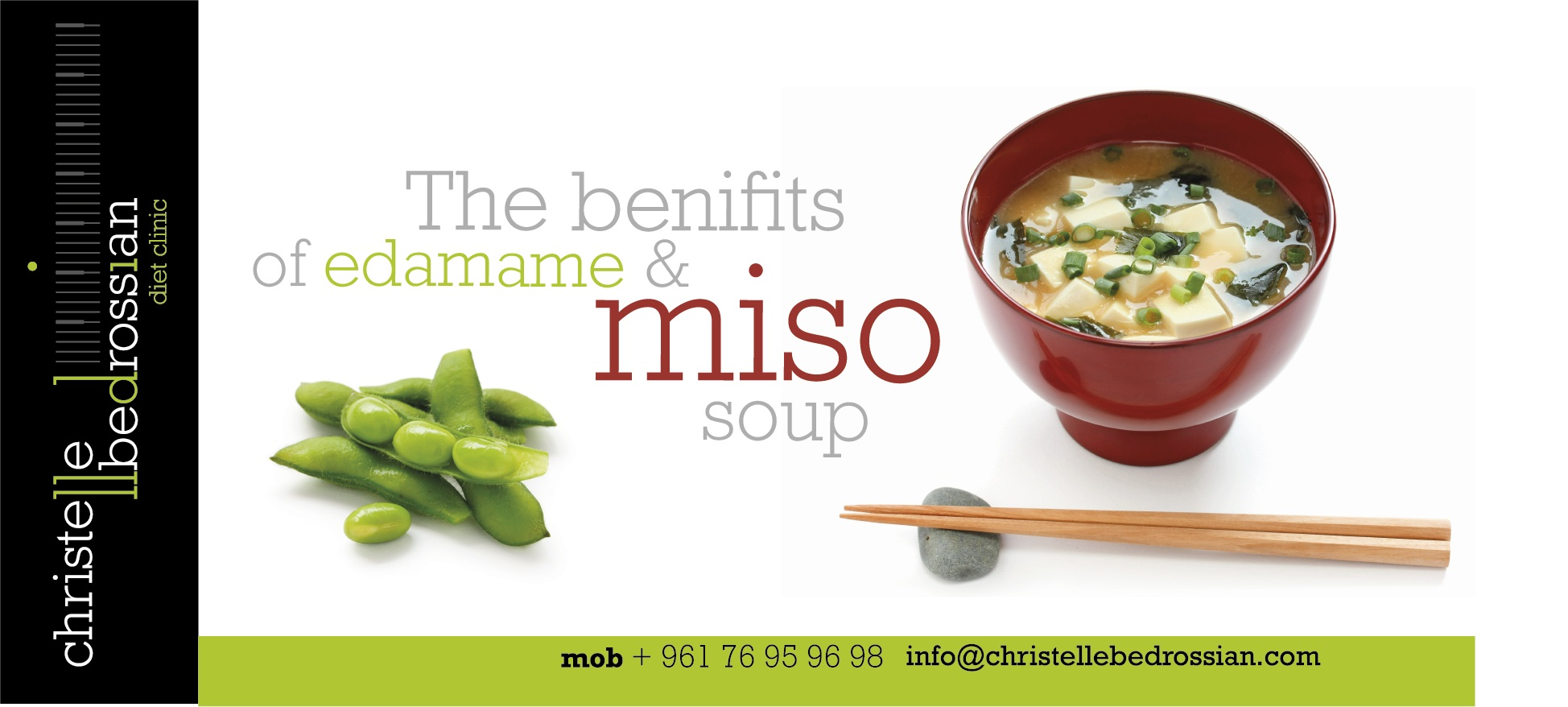 best dietitian lebanon, lebanon, diet, diet clinic, lose weight lebanon, health, miso soup , edamame