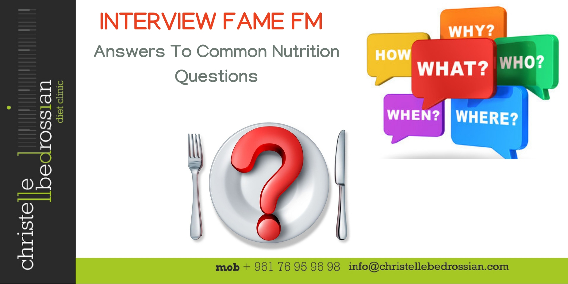 best dietitian lebanon, lebanon, healthy tips, healthy, INTERVIEW, RADIO, questions, nutrition