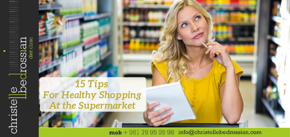 Tips of healthy shopping at the supermarket